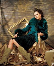 千玉红人QYUHR皮草服饰样品皮草女装外套款式