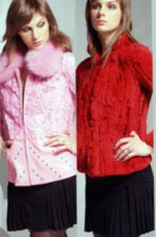 狮迪SHIDR皮革服饰样品皮草女装外套