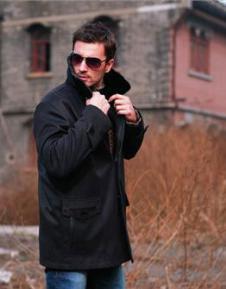 BML2012秋冬皮草服饰样品男装裘皮外套款式