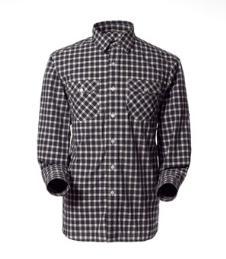 科诺修思KROCEUS经典户外运动装男式格子长袖速干衬衫