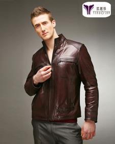 依诺莎YINUOSHA2012皮革服饰样品男装皮革外套款式