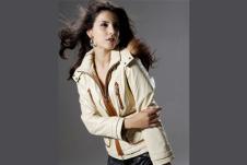 阿弟娜ADENA女装皮革服饰样品外套款式