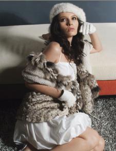雷事达leishida皮革皮草服饰样品皮草女装外套