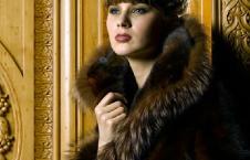 东方夫人DFFR皮草服饰样品女装外套款式