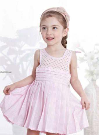 西瓜王子wmprince童装粉色连衣裙