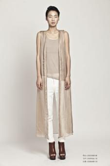 熙素2013春夏女装长款无袖外套