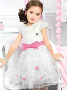 粉红娜娜pinknana童装白色公主连衣裙