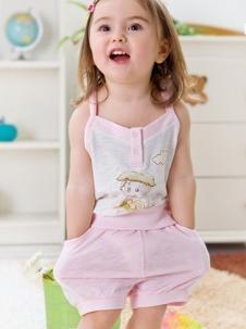 塔米拉拉童装粉色背心