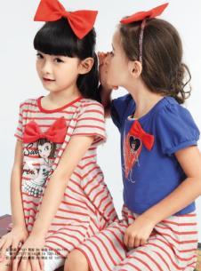 粉红娜娜pinknana童装红色条纹套装