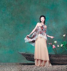 吉祥斋2012春夏装女装品牌服饰样品唐装