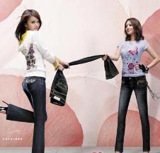 BOBSON牛仔品牌服饰样品女装牛仔裤