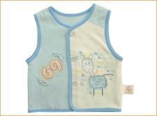 小捣蛋Xiao Dao Dan婴童装样品素色双面宝宝马夹