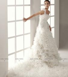 澳利莎AOLISHA2015高级定制样品婚纱