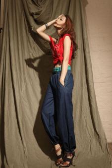 未时NEXTIME牛仔品牌服饰样品女装牛仔裤