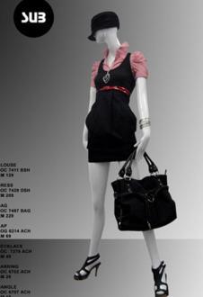 十雅SUB休閑品牌服飾服飾樣品連衣裙