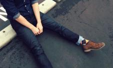 裝庫DIONKOO牛仔品牌服飾樣品男裝牛仔褲