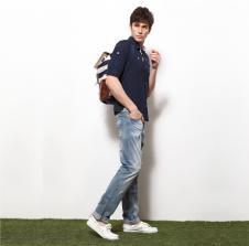 凯希亚CRENCIA2013春夏休闲服饰样品男装牛仔裤