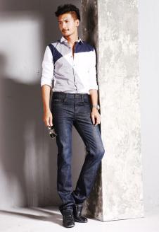 天佑奴LS牛仔品牌服飾樣品男裝牛仔褲