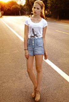 藍色天空MBSKY2013春夏休閑服飾樣品女裝T恤