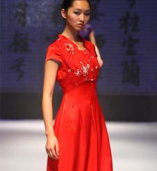 龙笛LONDEE女装品牌服饰样品旗袍
