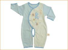 小捣蛋Xiao Dao Dan婴童装样品素色双面开裆连体衣