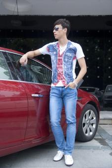 唠叨牛仔Laodao2012牛仔品牌服饰样品男装牛仔裤