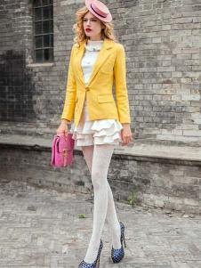 蜜思罗雅MISSROYAL女装黄色小西服