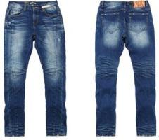 不规则结构线牛仔裤
