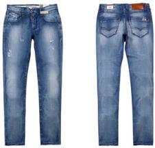 极简扎洗牛仔裤