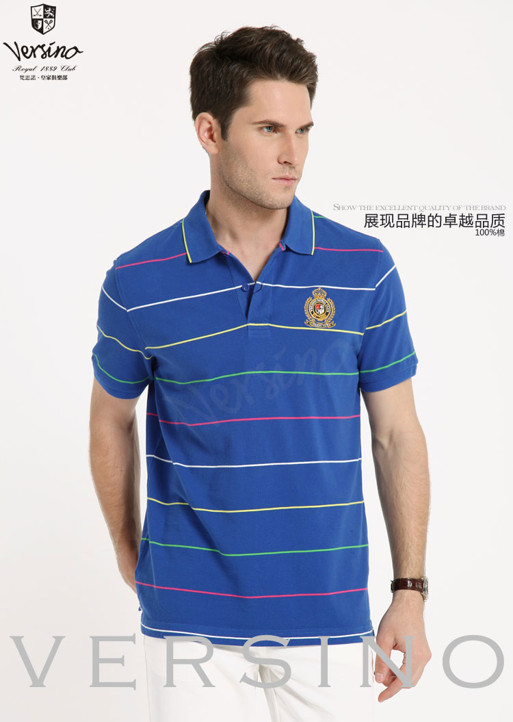 梵思诺2013新款修身纯棉商务t恤