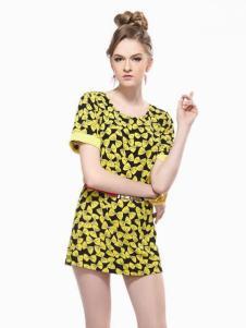 艾丽莎时尚女装短款连衣裙夏款