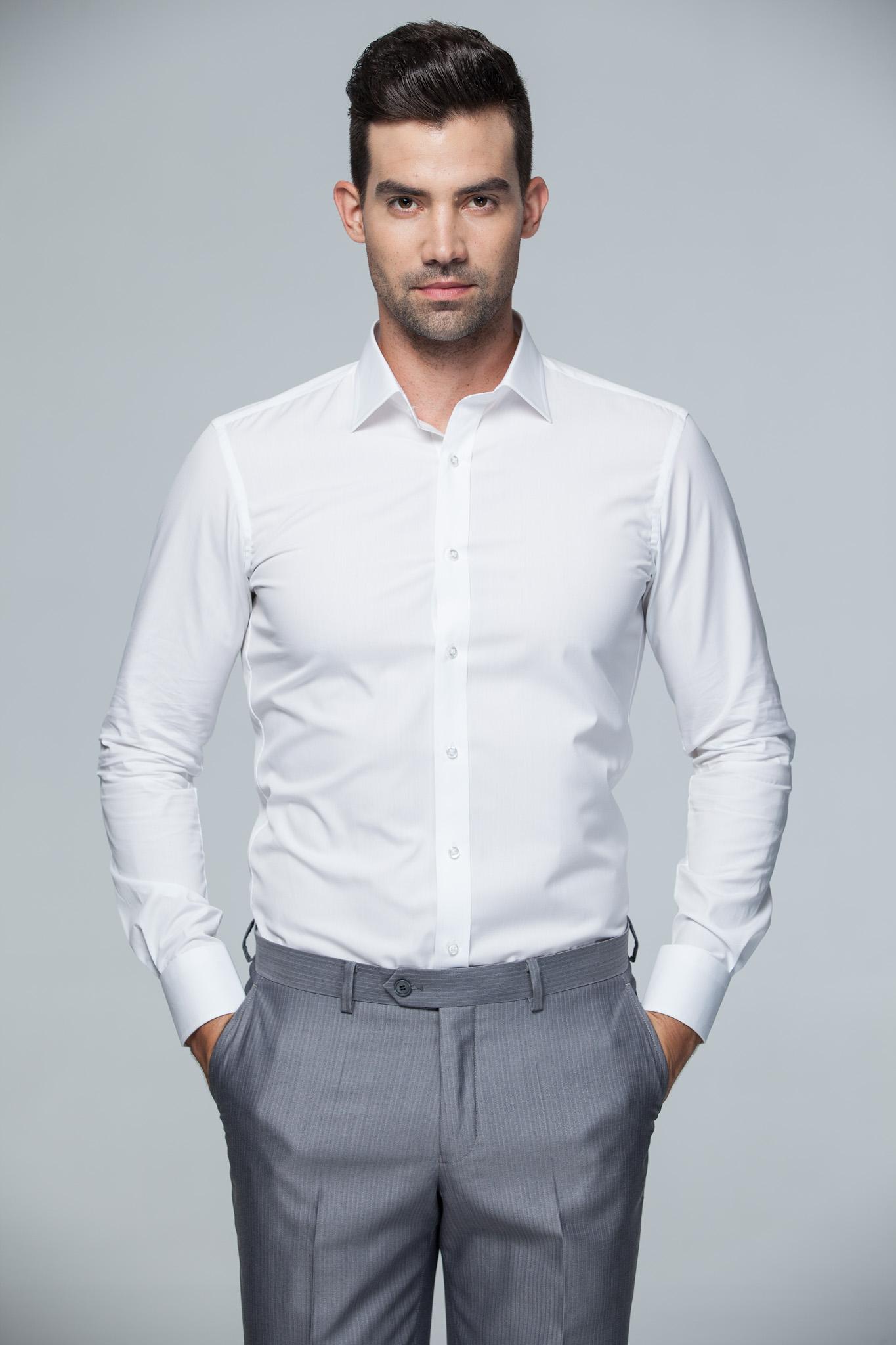 男士正装衬衣图片_男士西装,男士衬衫-141525_正品_新款_图片 -中服网