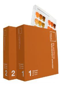 PANTONE彩通 塑胶透明色选色手册 塑胶系列色卡PBT100