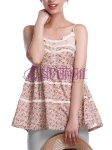 耶丽雅女装花色吊带裙