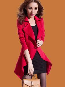 蜜思罗雅MISSROYAL女装红色大衣