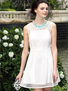 奥伦提夏款白色连衣裙