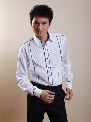 中国虎男装衬衫样品
