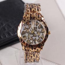 新款 GUESS盖尔斯 时尚豹纹奢华晶钻女士腕表 U0001L2