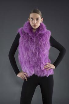 Adrienne Landau皮革皮草160461款