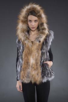 Adrienne Landau皮革皮草160460款