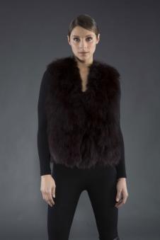 Adrienne Landau皮革皮草160463款