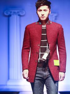 99cm男装红色外套