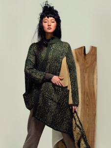 因为ZOLLE女装绿色棉麻外套
