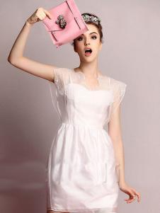珊版丽纱质连衣裙
