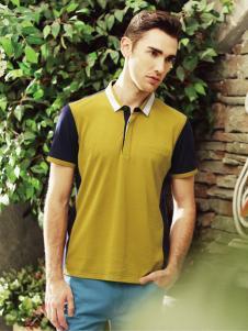 爱迪丹顿衬衣领T恤
