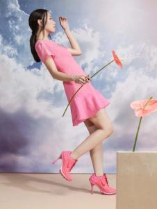 艾露伊粉色连衣裙
