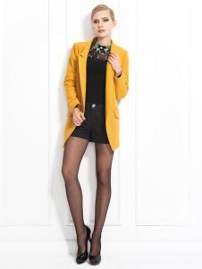 兰卡芙新款黄色小西服