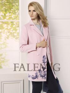 法拉鸣歌女装新款粉色外套