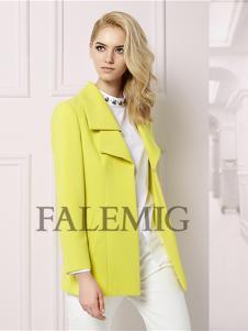 法拉鸣歌女装新款黄色外套