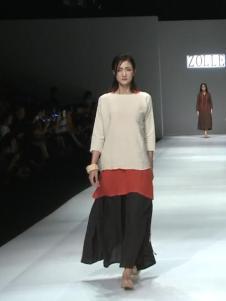 因为ZOLLE女装时尚拼接棉麻连衣裙